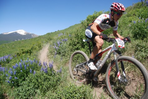 Howard Grotts storming to victory in Crested Butte