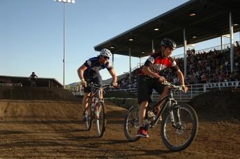 Gino leads Coach Chad at Durango MotoX 2009