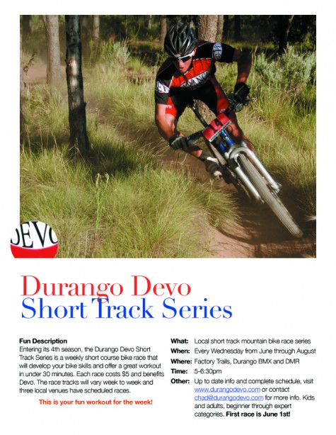 First race of the series is this wednesday at the Fort Lewis College Factory Trails.