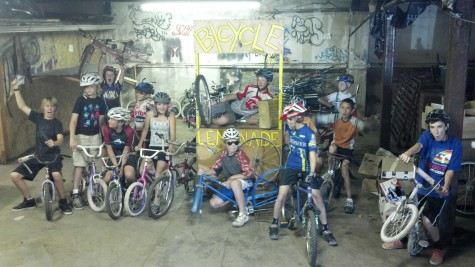 Last day of the season for the Devo Explorers Club at some of the last weeks of the donated space for the Bicycle Lemonade Project.