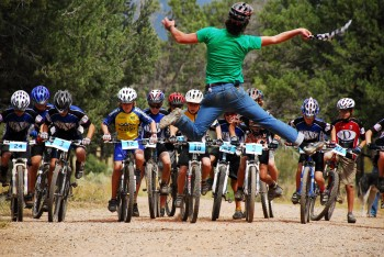 The start of the 2007 Middle School State Champs at the Factory Trails in Durango.