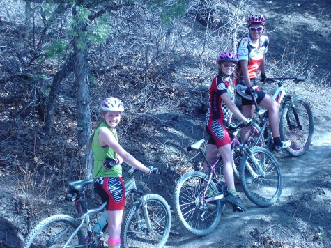 U19ers Robin and India ride with former U19er and Sweet Elite member Alicia Rose Pastore. Mountain biking rules!