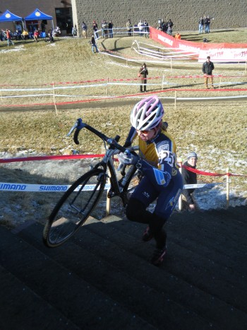Teal runs the stairs at Cross Nationals in 2009