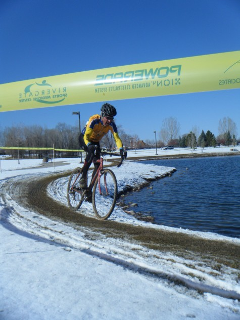 FLC coach and race organizer, Dave Hagen around the hazard