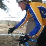 Garrett riding fast