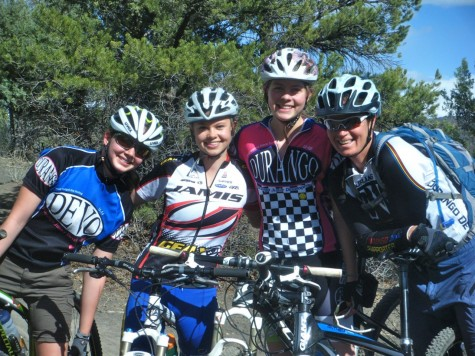 The U19 Devo Ladies, Sierra, India, Robin and Coach Elke.