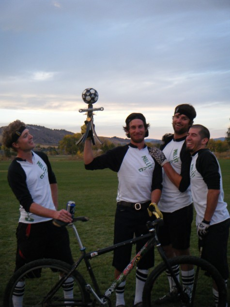 Coaches Jon Bailey, 2nd from left and Chad Cheeney, 3rd from left, take the 2010 Western States Polo Championship in Fort Collins, Colorado