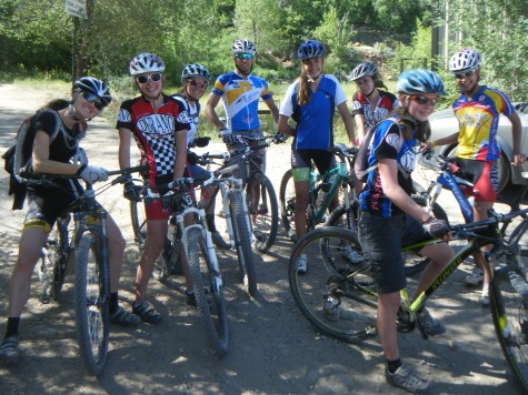 The ladies team gather post Horse Gulch Shred