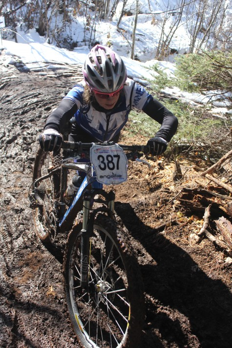 U19 Alumni Hannah Madden riding for Colorado School of Mines