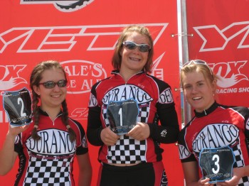 Joan Hannah and Kaila share the podium in 2008