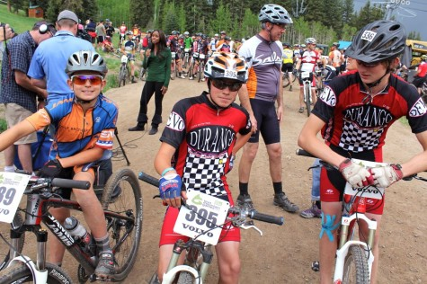 Jake, Will and Devin prepare for the cat 2 race. River not shown.
