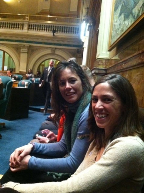 Devo Director Sarah and U14 Coach Annie on the Senate Floor in Denver.