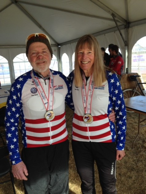 Martha Iverson and Walt Axthelm, your 2014 National Champions of Cyclocross.
