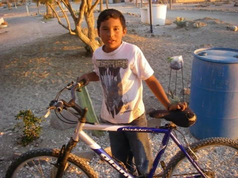 Rodolfo with his Bicycle Lemonade Bike