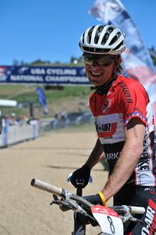 Tad after winning the 2010 U23 national Championship