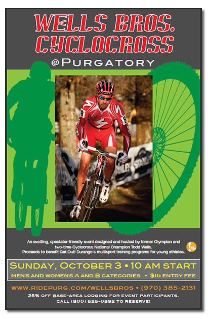 Sunday brings the towns first Cyclocross race up at Durango Mountain Resort, benefitting the Get Out team. Durango Coca-Cola will also be on hand to congratulate the town of Durango's National Championship winners from this seasons race in Sol Vista.