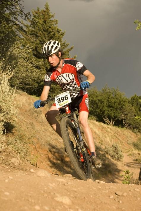 Evan Elliott on the FLC Rim Trail in 2006. photo by Kennen Harvey