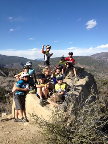 Last night's Devo Jr Adv ride on top of Hog's Back