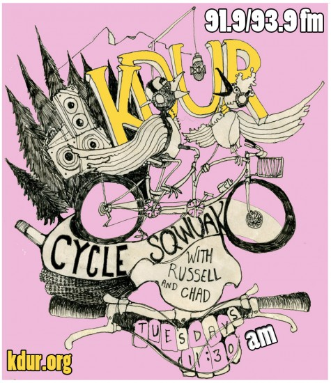 Check out KDUR's Cycle Squawk every tuesday from 1130-12 online at KDUR.org and on the fm dial 91.9, 93.9.