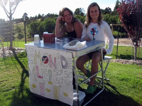 Claire Larson and friend raised $28 for DEVO!