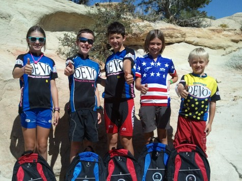 Katja, Perrin, Dylan, Camryn and Ivan give a big thumbs up to this years Road Apple Rally.