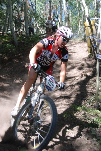 Alicia Rose Pastore rode the burly dh on the way to her 2009 Cat 1 15-18 National Championship